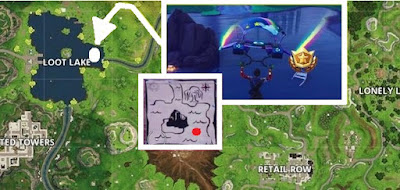 Battle Star Location, Tomato Town, Treasure Map, Fortnite Battle Royale