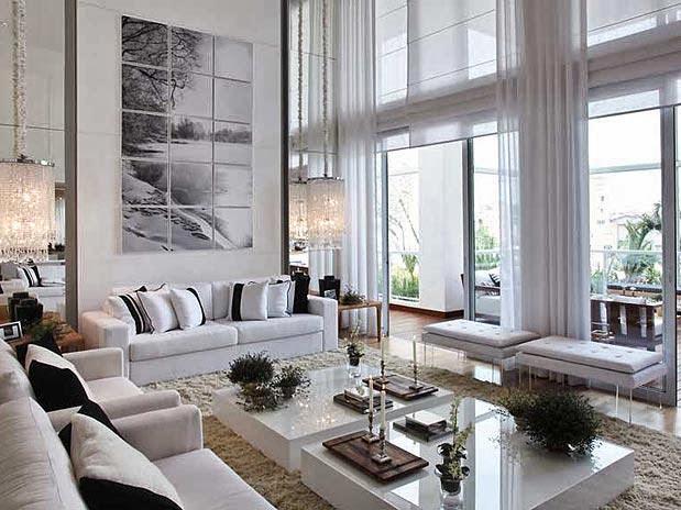 Sala De Estar Clin ~ Construindo Minha Casa Clean Salas de Estar e de TV Modernas!!!