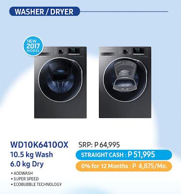 Samsung, home appliances, sale alert, washer, dryer