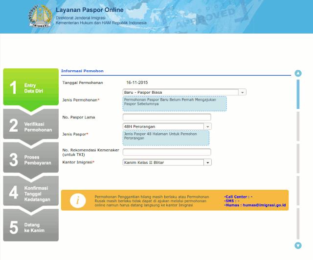 pendaftaran paspor online