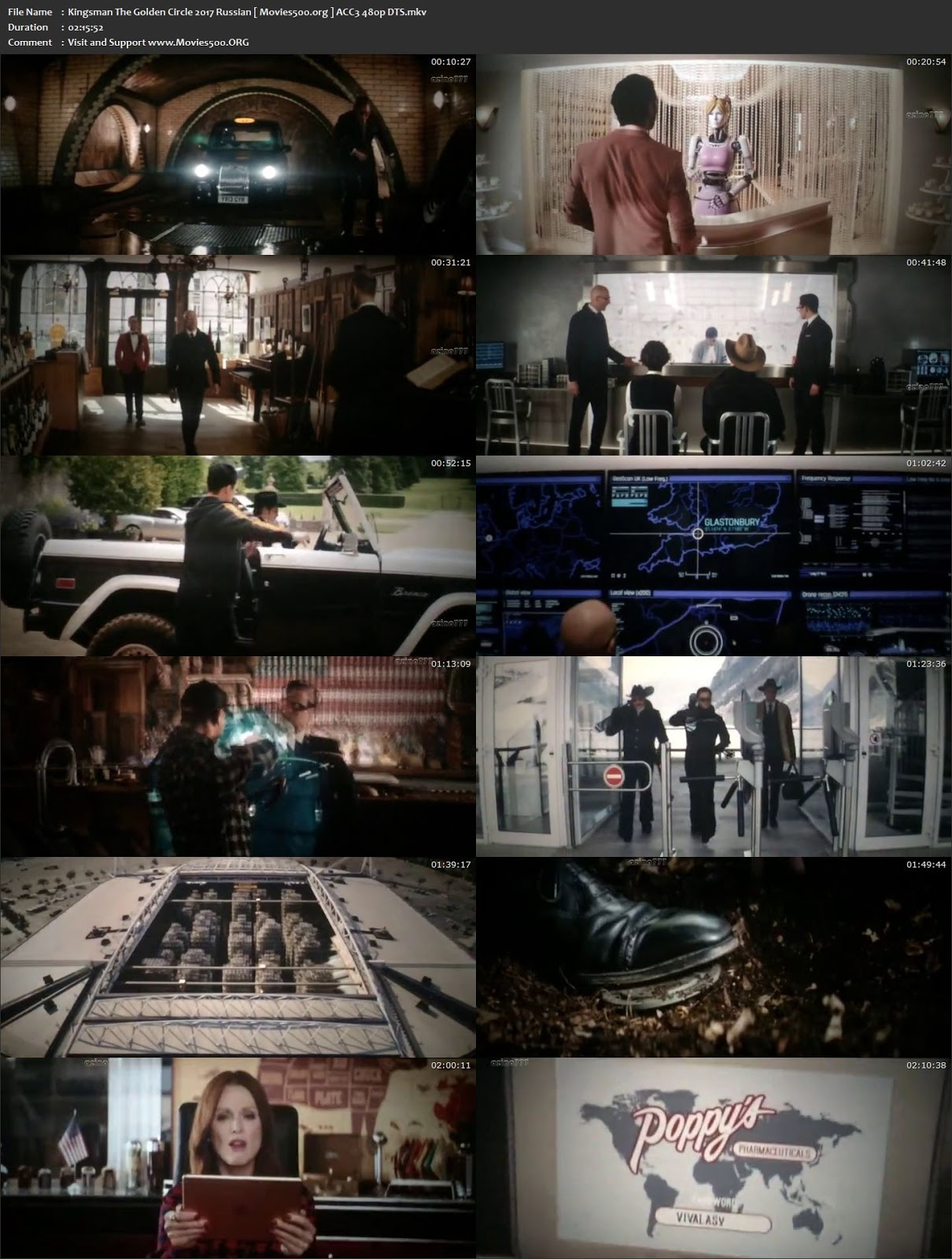 Kingsman The Golden Circle 2017 Full Movie 395MB HDCAM 480p at movies500.site
