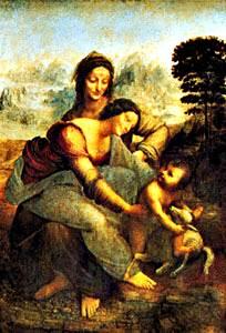 Virgen y niño con St. Anne
