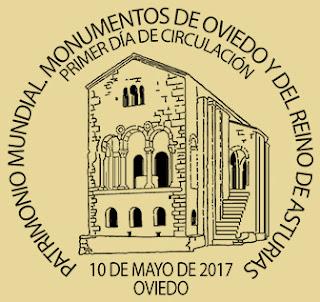 Matasellos Primer Día de Presentación Hoja bloque monumentos de Oviedo