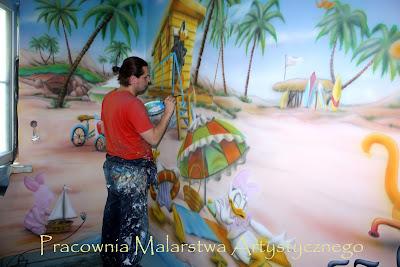 Artystyczne malowanie ścian, malowanie obrazów na ścianach, murale 3D, malowidło ścienne w pokoju dziecka