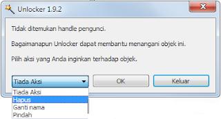 Download software unlocker 1.9.2(software untuk menghapus file yang membandel)