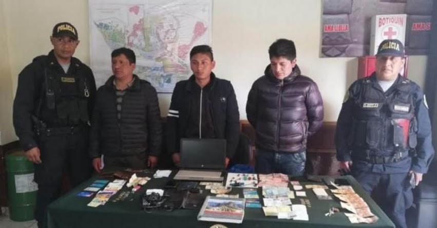 Policía captura a mafia que negociaba con Examen de Nombramiento Docente en el Cusco