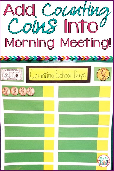 Morning meeting is a great time to practice counting and identifying coins! Check out this easy idea that can be quickly implemented into your classroom!