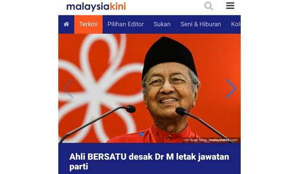 Ahli PRIBUMI Desak Mahathir Letak Jawatan Parti