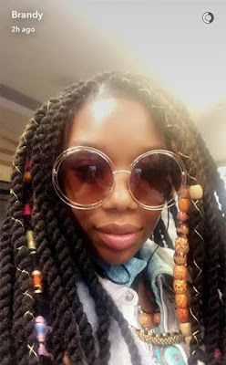Brandy hospitalized after losing consciousness on a plane