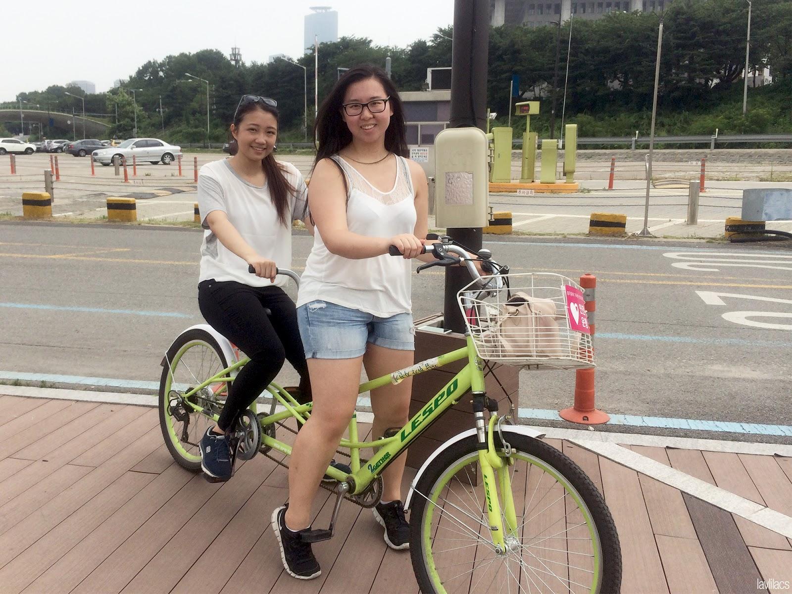 Seoul, Korea - Summer Study Abroad 2014 - Yeouido Park - Han River - tandem biking