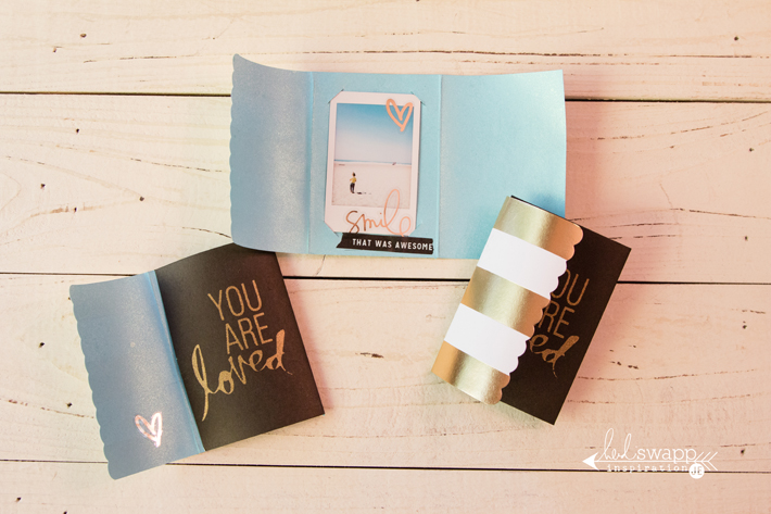 @heidiswapp's newest Instax collection has this beautiful card kit where you can open the card up to an Instax photo! by @createoften