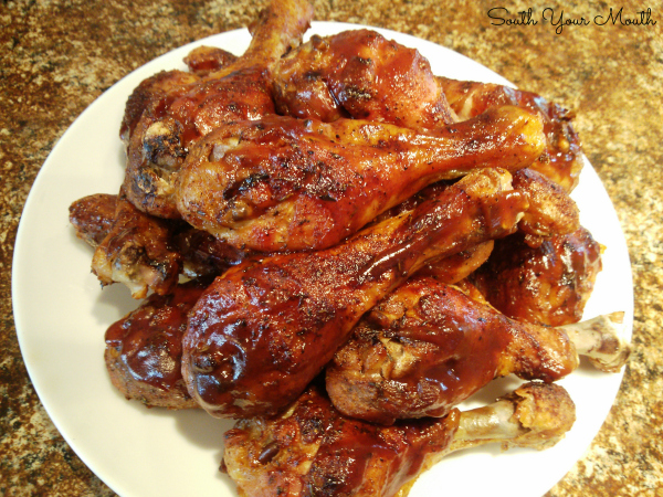 Baked Barbequed Chicken | An oven-baked BBQ chicken recipe for legs, thighs or leg quarters cooked low-and-slow that tastes like it came right off the grill.