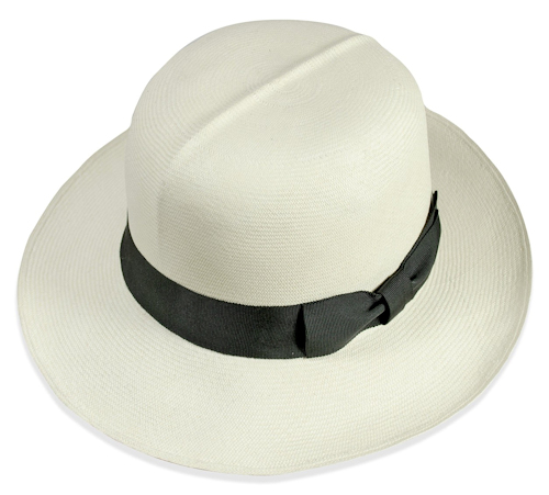 01034bd645219 Recognisable from its center crease, the colonial (or optimo) is the  original roll-up Panama hat style beloved of our better dignitaries.