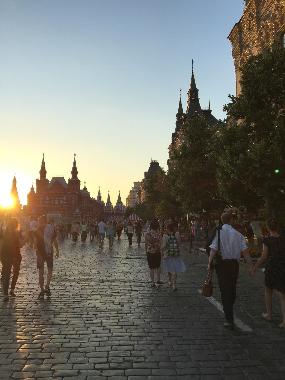 Dämmerung Moskau Kremel