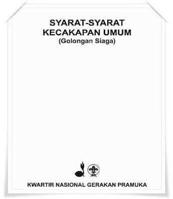 buku syarat kecakapan umum (sku) untuk golongan siaga