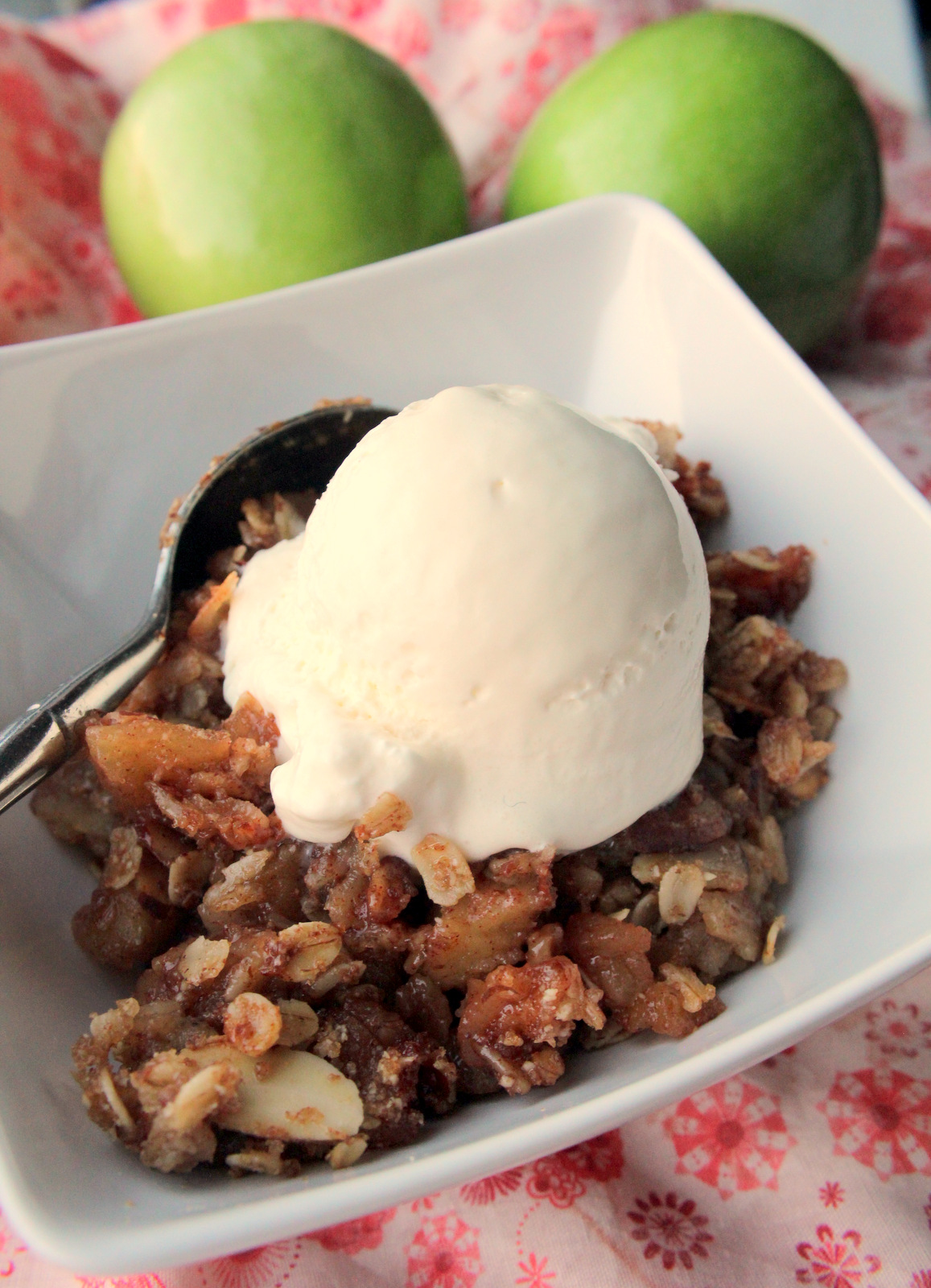 Sweet, fruity with a hint of lemony tang and perfectly spiced with cinnamon and nutmeg this Apple Crisp is simpy the best!