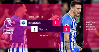 Brighton vs Tottenham Hotspur 1-1 Highlights