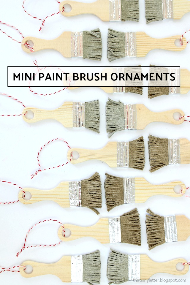 mini paint brush ornaments