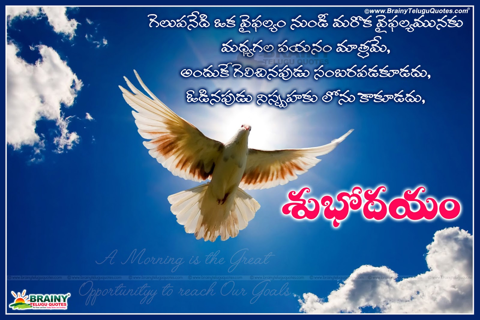telugu good morning inspirational status messages images