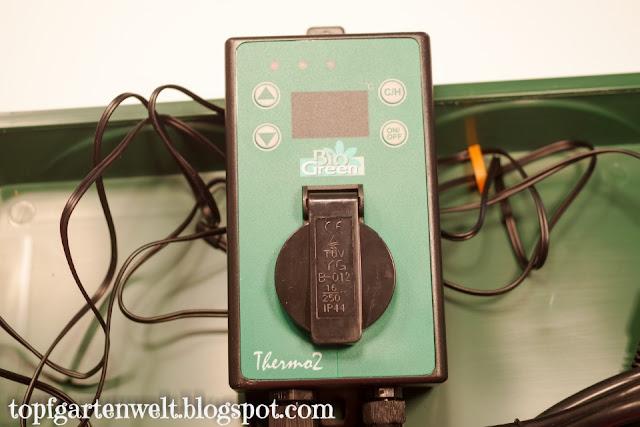 Thermostat für beheizbare Anzuchtstation von Bio Green - Gartenblog Topfgartenwelt