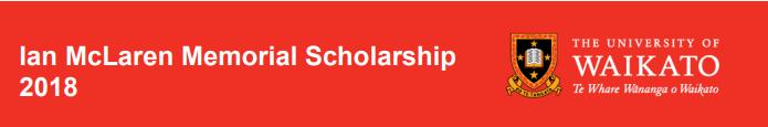 Ian McLaren Memorial Undergraduate Scholarships in New Zealand