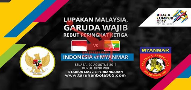 Prediksi Taruhan Bola 365 - Myanmar vs Indonesia 29 Agustus 2017