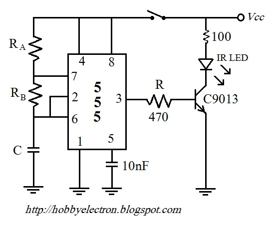 Hobby in Electronics: Remote Control Using the NE 555 and