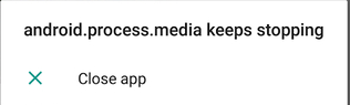 Cara Mengatasi android.process.media keeps stopping Di Smartphone Android