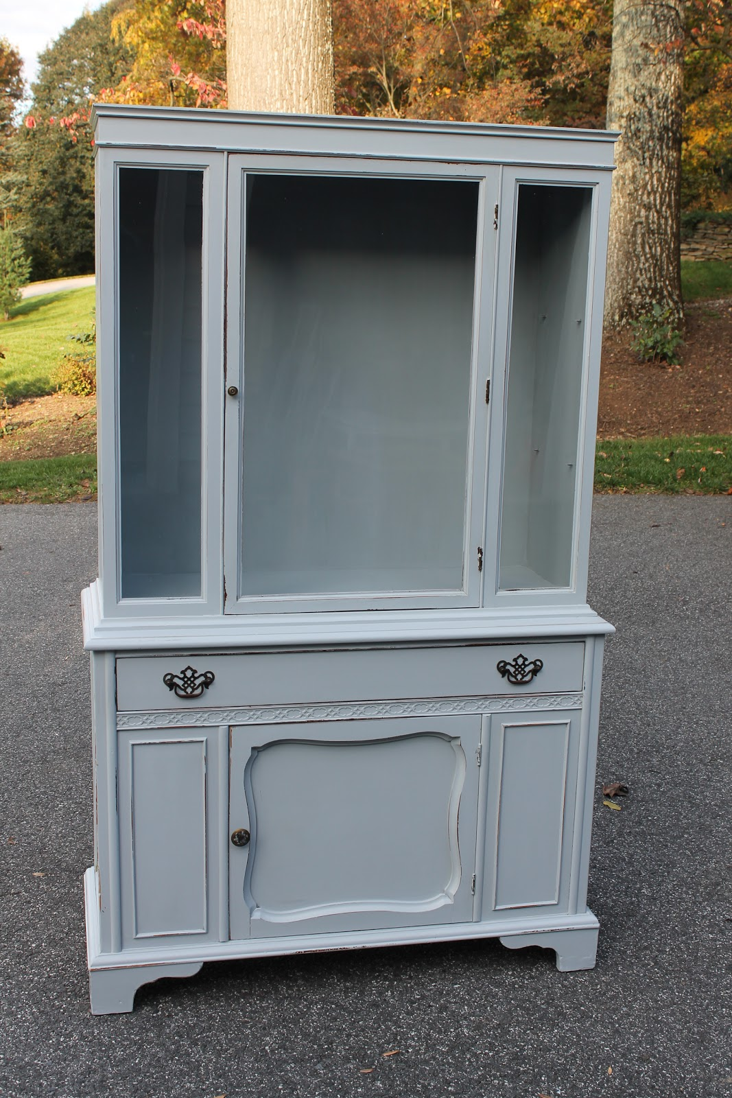 grey china cabinet elizabeth amp co classic grey china cabinet 16083