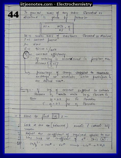 Electrochemistry Notes IITJEE14