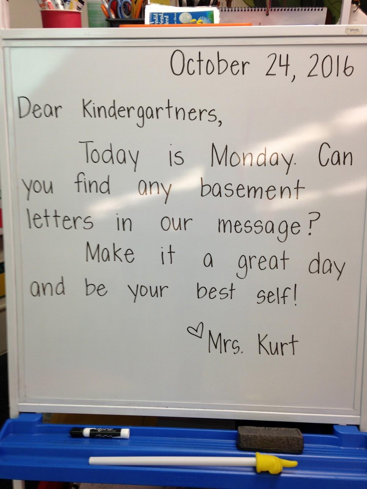 Mrs. Kurt's All Star Kindergarten Blog: Morning Message