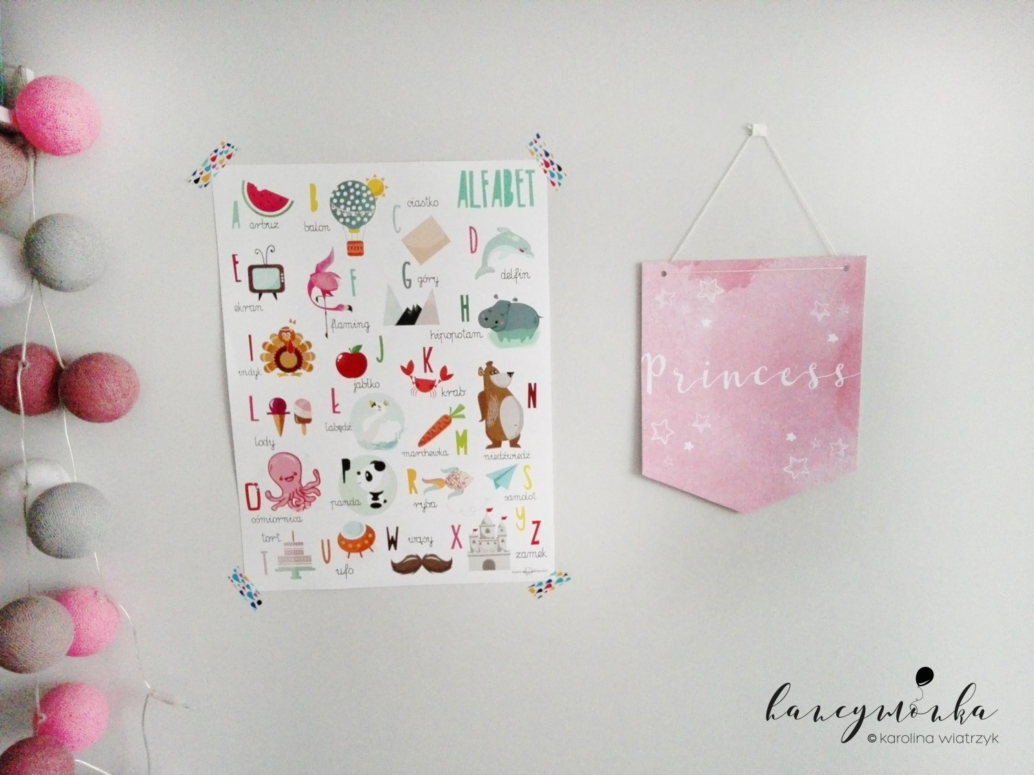 diy, proporczyk, paper flag, baby room, kids room, decor, decoration, pokój dziecięcy, dla dzieci, for kids, design for kids, zrób to sam, zrób to sama mamo, grafiki, plakaty, dream big, cloud, young and wild, princess, do druku, printable, freebie, hancymonka