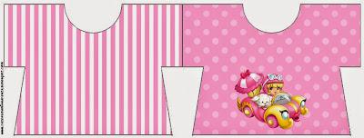 Tarjeta con forma de Camiseta de Penelope Glamour Bebé.