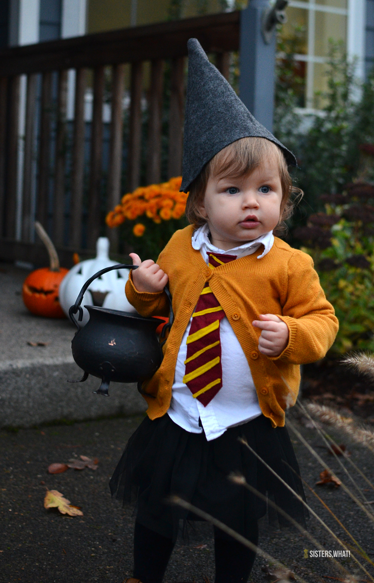 DIY little witch Hermione Harry Potter girl toddler costume