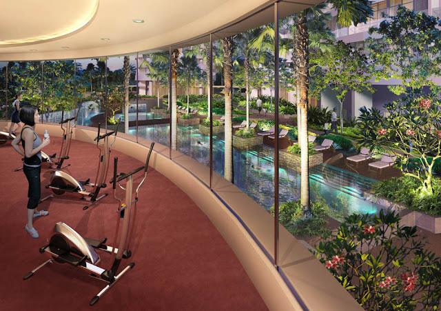 Phòng tập Gym hiện tại bên trong dự án