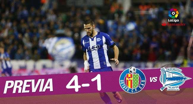 cuplikan gol getafe vs deportivo alaves 4-1