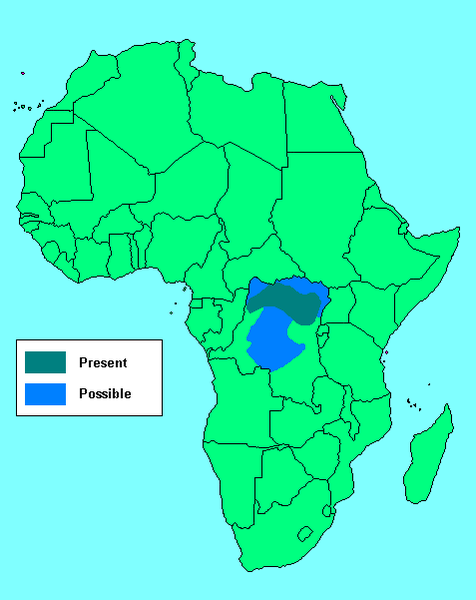 Image showing the distribution of Okapi