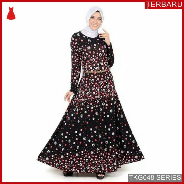 BJK48L43 Long Dress Gamis Murah di BMGShop