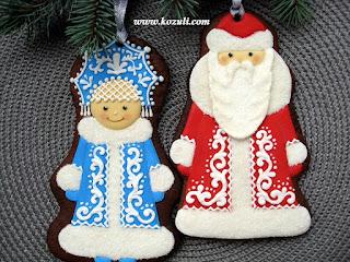 Новогодние пряники, новогоднее печенье. Рождественские пряники, рождественское печенье.