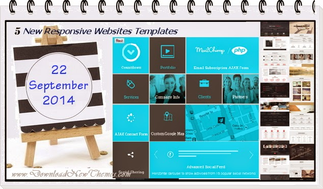 Premium New Responsive Websites Templates