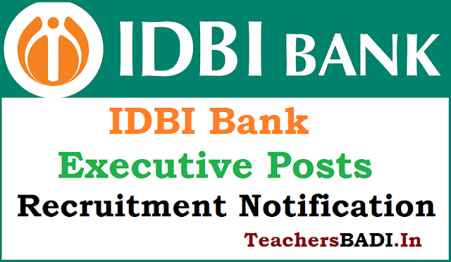 IDBI Bank,Executive PostsRecruitment