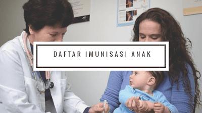 daftar imunisasi anak