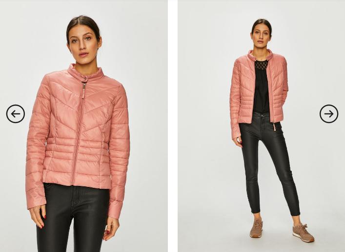Vero Moda - Geaca de dama ieftina imblanita de iarna roz