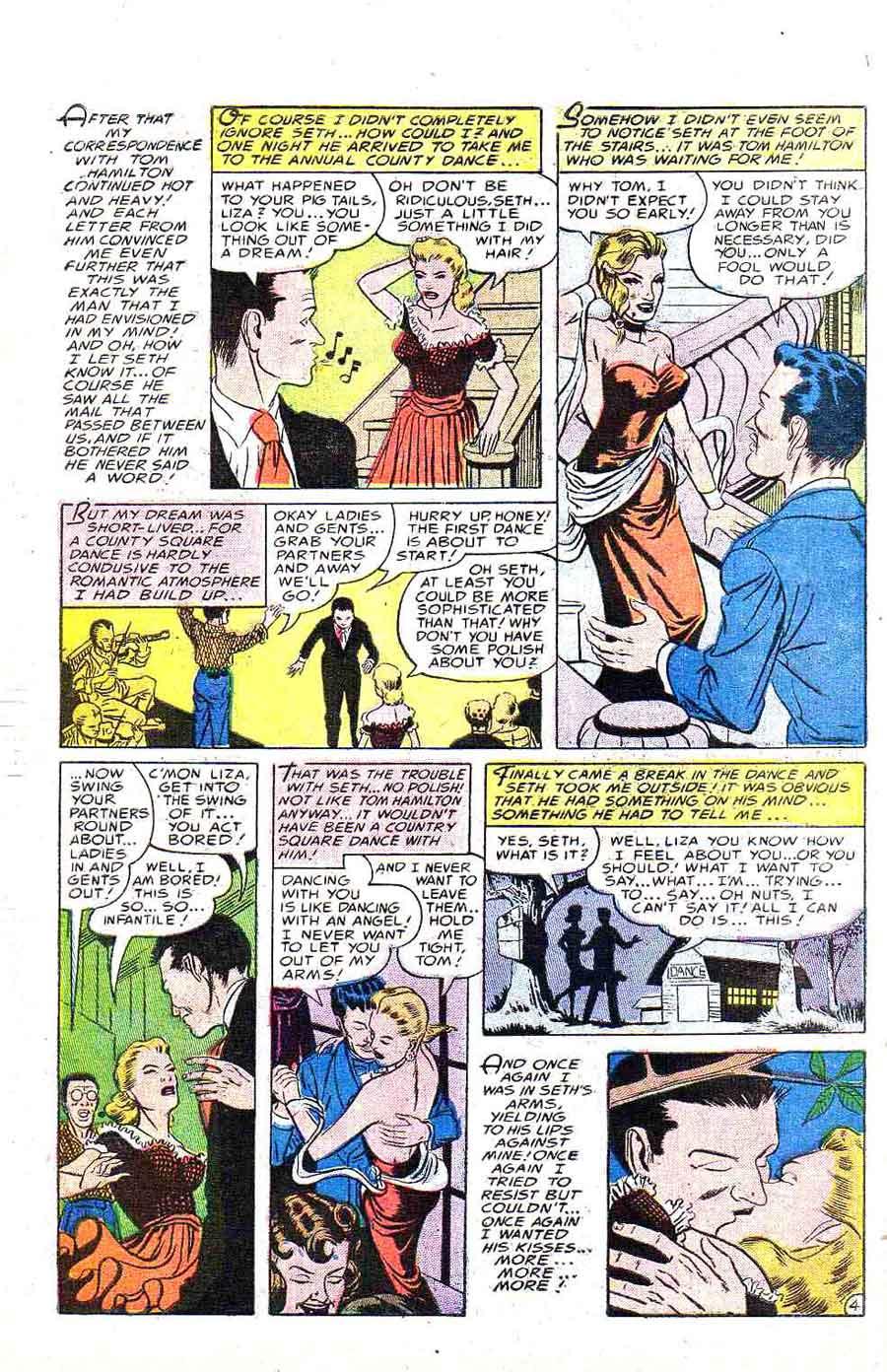 Daring Love v1 #1 - Steve Ditko golden age romance comic book page art