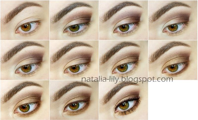 Natalia Lily Beauty Blog Makijaż Oka Brąz Ze Starym Złotem Krok