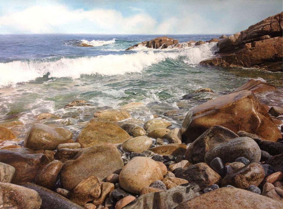 07-Iban-Navarro-Watercolour-Paintings-of-the-Seaside-that-look-like-Photographs-www-designstack-co