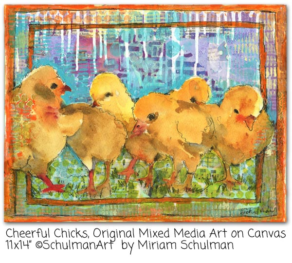 chicken art by Miriam schulman @schulmanArt learn more http://schulmanart.blogspot.com/2015/12/5-most-loved-instagram-posts-2015.html