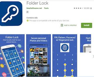 تطبيق Secret Folder App Lock لقفل برامج الاندرويد والايفون