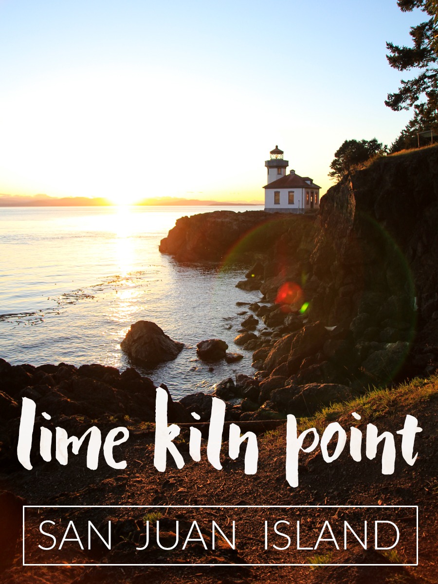 Lime Kiln Light on San Juan Island is not just a great place to watch for orcas, but a beautiful sunset viewpoint.
