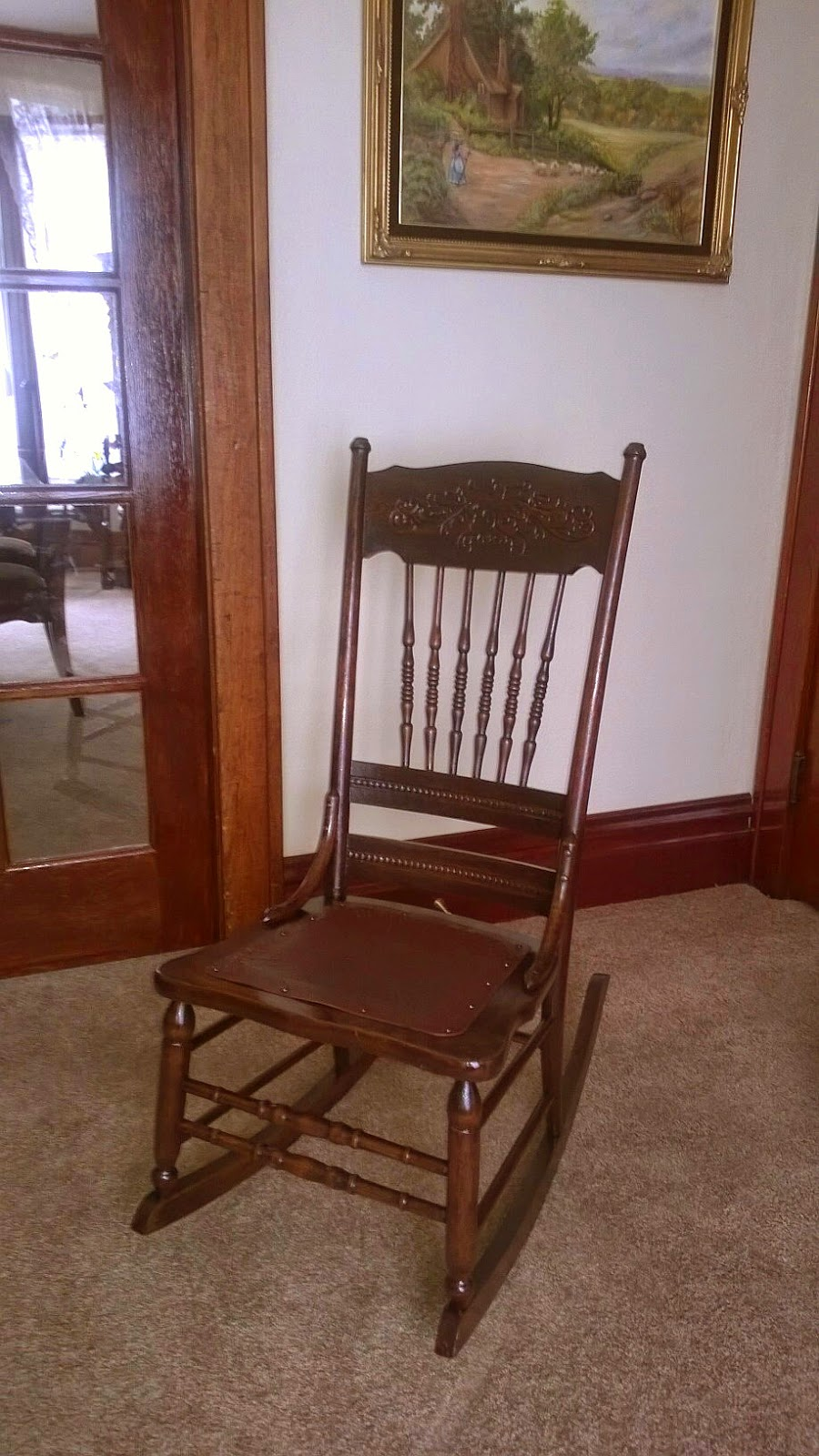 Antique sewing rocking chair - Here The Chair Got Tested By A Couple Of Grandtots Complete With A Story Book And Some Cuddles And Rockabye Baby Songs Yes Even At Ages 2 And 4